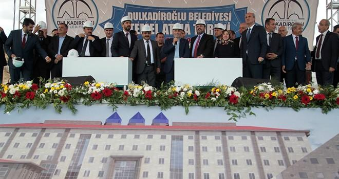 Dulkadiroğlu'ndan Kamu Külliyesi'ne görkemli temel atma töreni