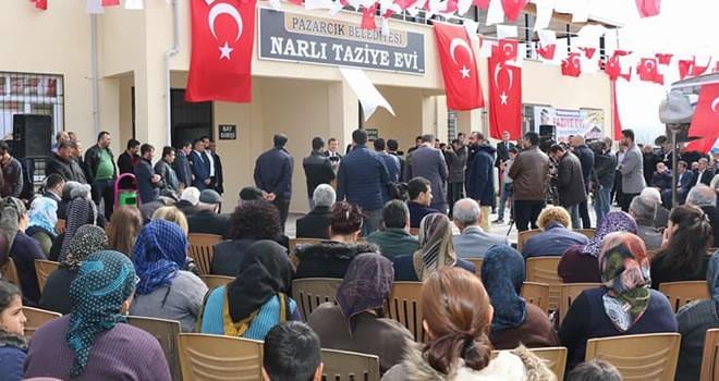Bölgenin en büyük taziye evi Pazarcık'ta hizmete açıldı