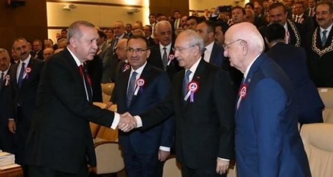 Erdoğan'ı gören Kılıçdaroğlu şekilden şekile girdi