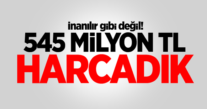 Bilinmeyen numaralara harcama 545 milyon lira