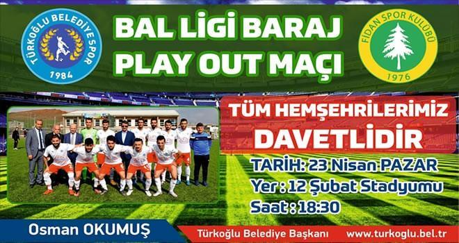 Türkoğlu Belediyespor maçına davet