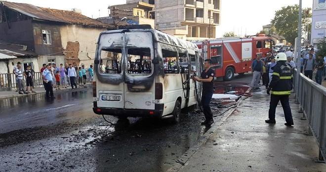 Kahramanmaraş'ta minibüste patlama