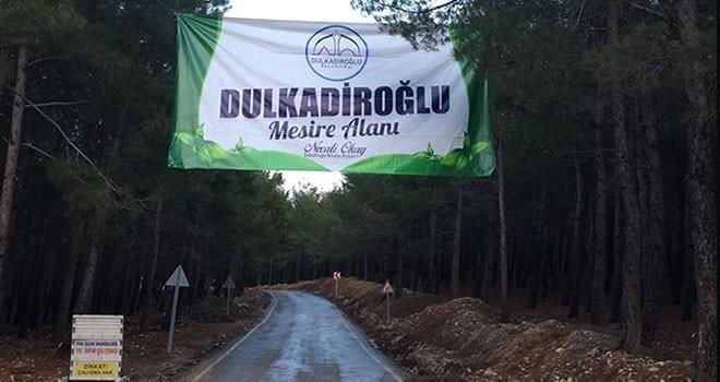 Dulkadiroğlu Belediyesi'nden Büğlek Mahallesine Mesire alanı