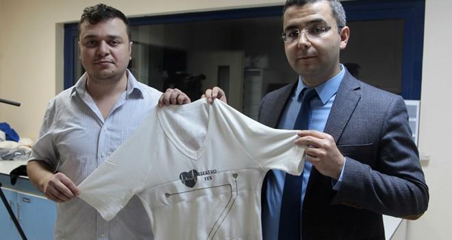 Kahramanmaraş'ta kalp ritmini ölçen ''akıllı tişört'' geliştirildi