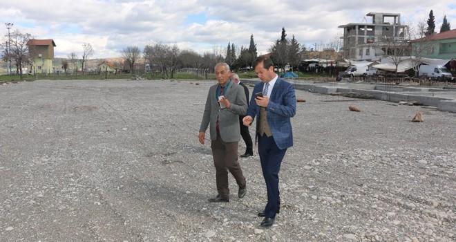 Başkan Bozdağ'dan kapalı pazar yerinde inceleme