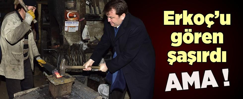 Başkan Erkoç demir dövdü
