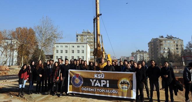 KSÜ Yapı Topluluğu Öğrencilerine hizmet yapıları anlatıldı