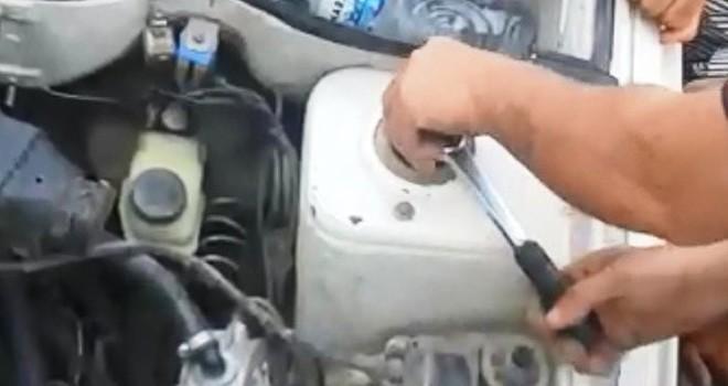 Kahramanmaraş'ta otomobilin motoruna sıkışan yavru kedi kurtarıldı