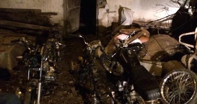Kahramanmaraş'ta motosiklet hırsızlığı ve parçalama atölyesi ortaya çıkarıldı