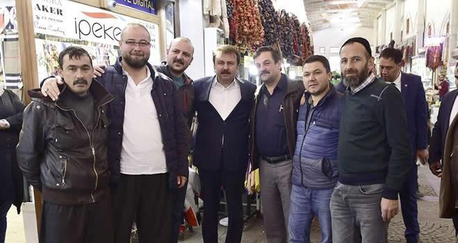 Başkan Erkoç'tan esnaf ziyareti