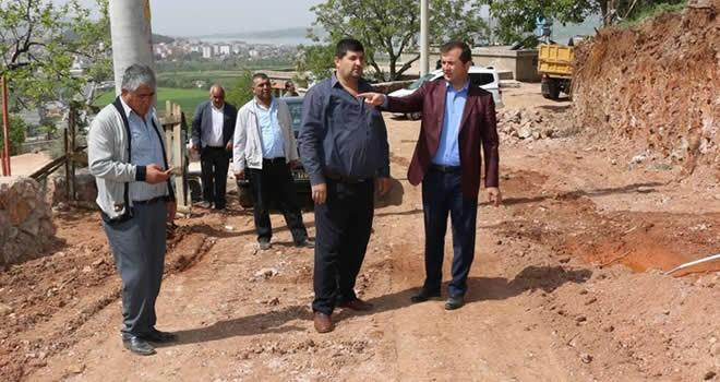 Pazarcık Belediyesi'nden yol açma ve genişletme çalışması