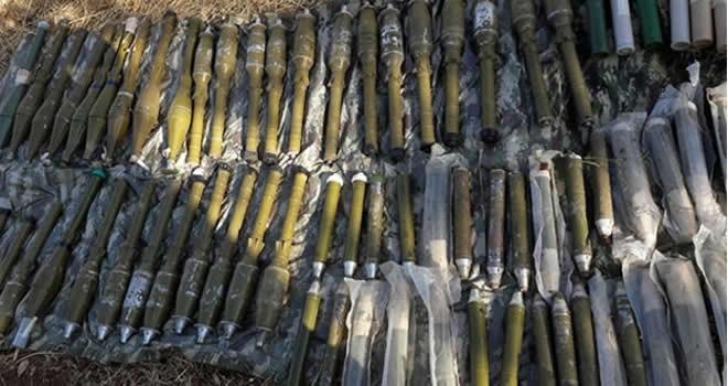 PKK'ya büyük darbe! 105 adet roketatar mühimmatı...