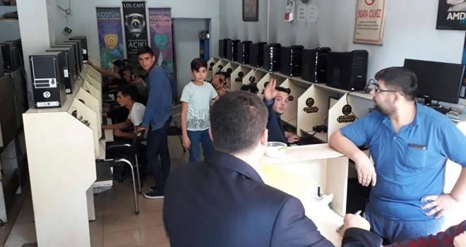 Kahramanmaraş'ta internet kafelere denetim