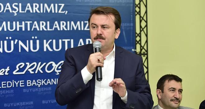 Başkan Erkoç, muhtarlarla bir araya geldi