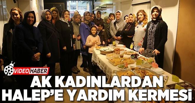 Onikişubat Kadın Kolları Halep için yardım kermesi düzenlendi