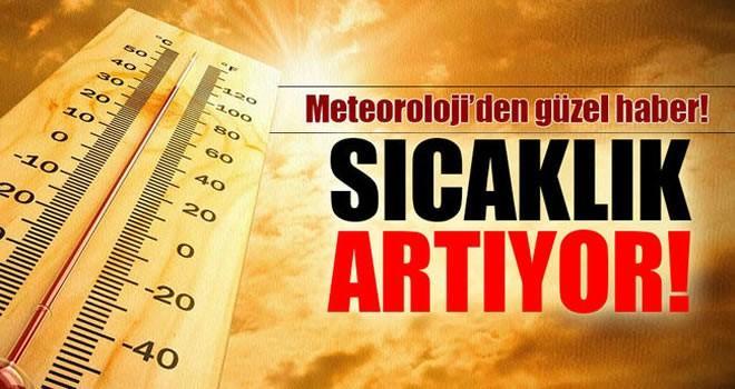 Meteoroloji'den güzel haber! Sıcaklar artıyor!
