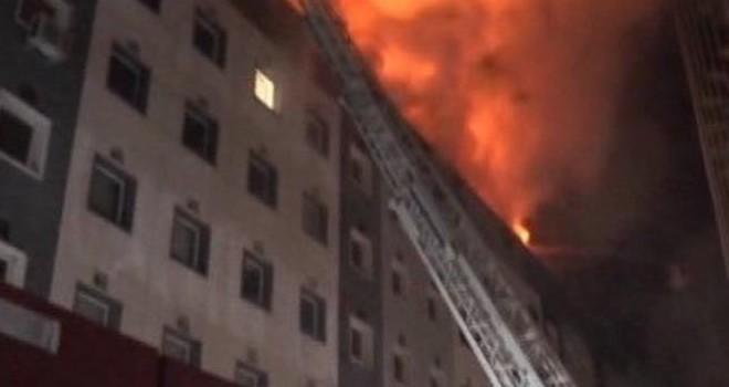 Belediye binasında korkutan yangın