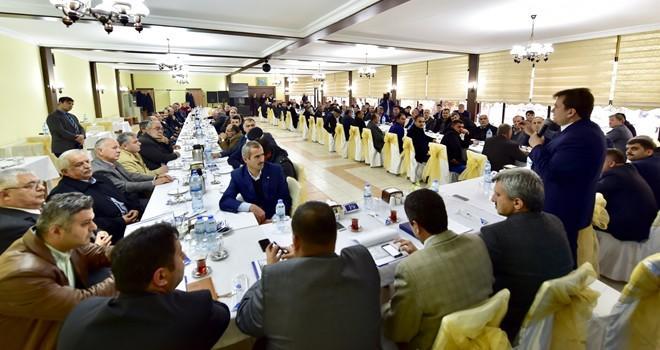 Başkan Erkoç, Dulkadiroğlu İlçesi mahalle muhtarlarıyla bir araya geldi