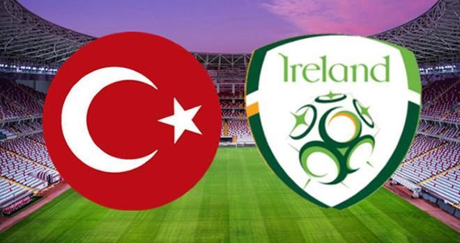 Türkiye hazırlık maçında bugün İrlandayı konuk edecek