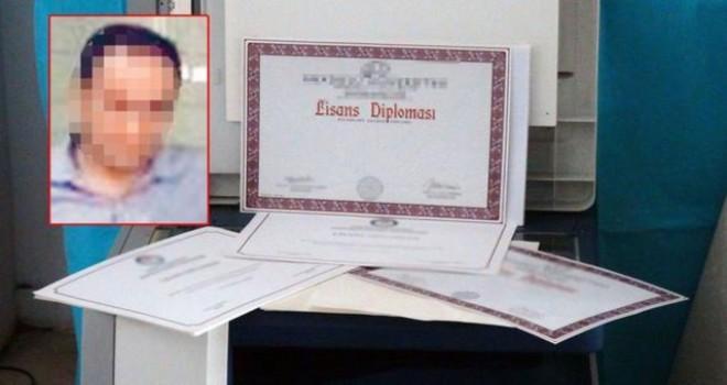 Sahte diploma ile 19 yıl öğretmenlik yapmış