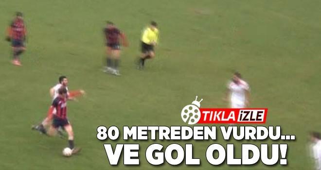 Düzcesporlu Kerem Çağatay, 80 metreden gol attı