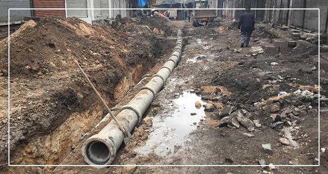 Demirciler Çarşısının kanalizasyon ve yağmur suyu alt yapısı yenilendi