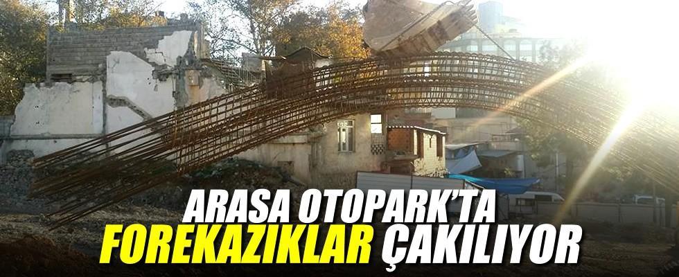 Arasa Otopark çalışmaları hummalı bir şekilde devam ediyor