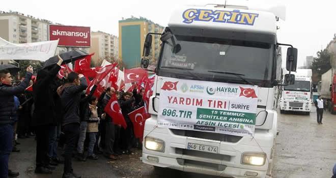 Kahramanmaraş'tan Suriye'ye 47 tırlık yardım konvoyu