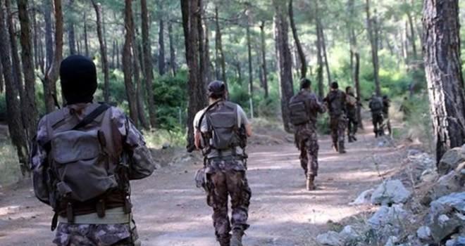 Muğla'da aranan 2 teröristten biri kendini patlattı