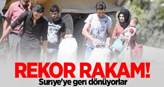 Ülkelerine dönen Suriyeli sayısı 46 bini aştı