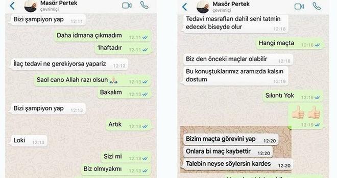 62 Pertekspor için flaş şike iddiası: ''Bizi şampiyon yap''