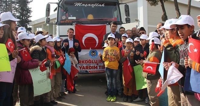 Halep'e battaniye yardımı