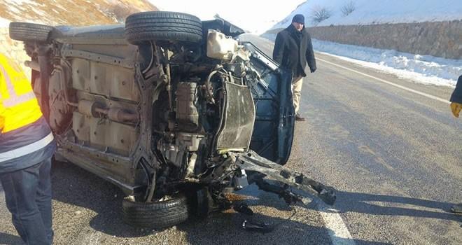 Kahramanmaraş'ta otomobil devrildi: 3 yaralı
