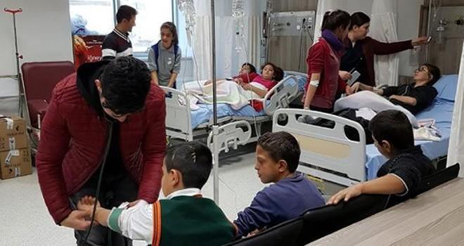 Kahramanmaraş'ta zehirlenen 16 öğrenci hastaneye kaldırıldı
