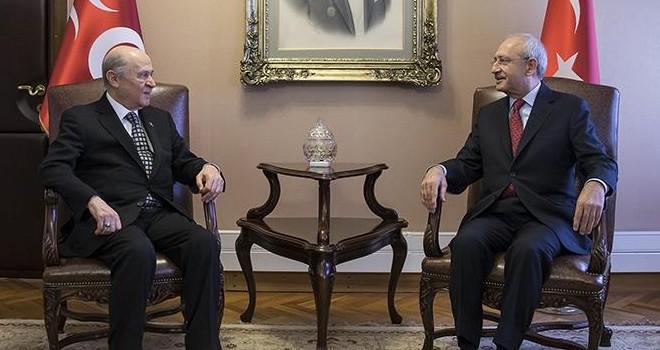 Kemal Kılıçdaroğlu ile Devlet Bahçeli bir araya geldi