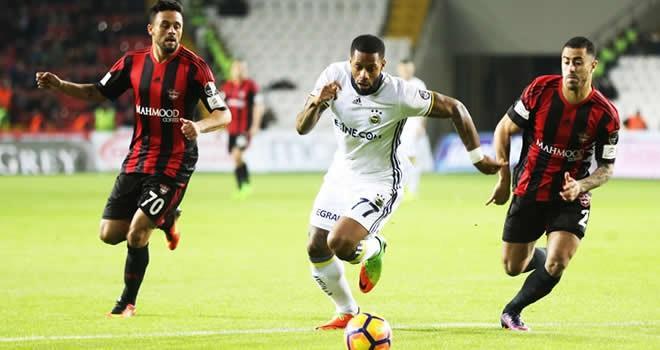 Gaziantepspor ile Fenerbahçe 1-1 berabere kaldı