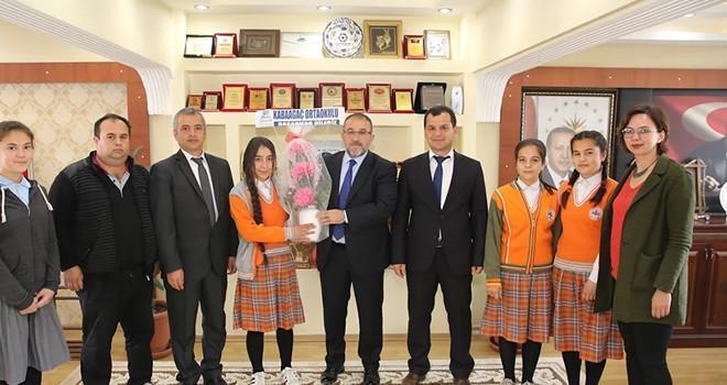 Kabaağaç Ortaokulundan Başkan Güven'e ziyaret