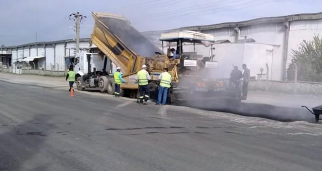 Karaziyaret'te asfalt çalışması devam ediyor!