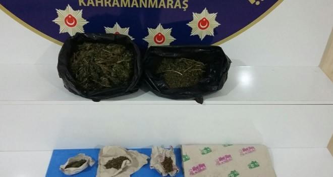 Kahramanmaraş'ta dönerciye düzenlenen esrar operasyonunda 2 tutuklama