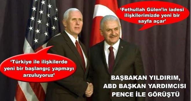 Başbakan Yıldırım, ABD Başkan Yardımcısı Pence ile görüştü