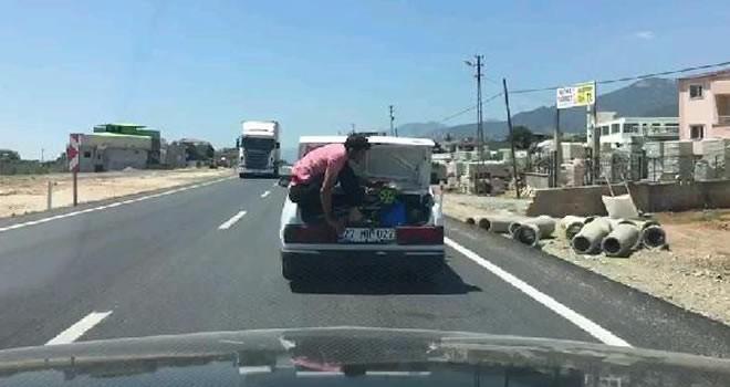 Gaziantep'te tehlikeli yolculuk