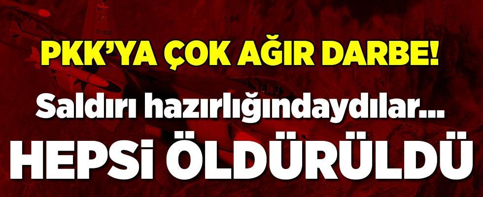TSK'dan PKK'ya çok çok ağır darbe! Hepsi öldürüldü!