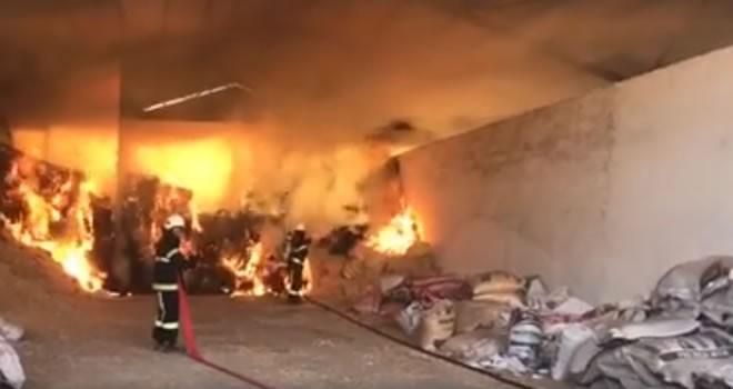 Kahramanmaraş'ta besi çiftliğinde korkutan yangın