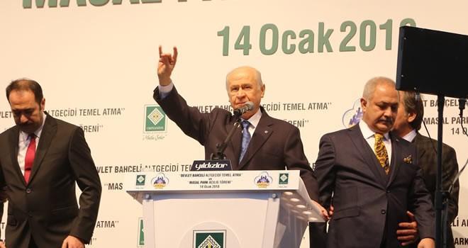 MHP lideri Bahçeli memleketi Osmaniye'de konuştu