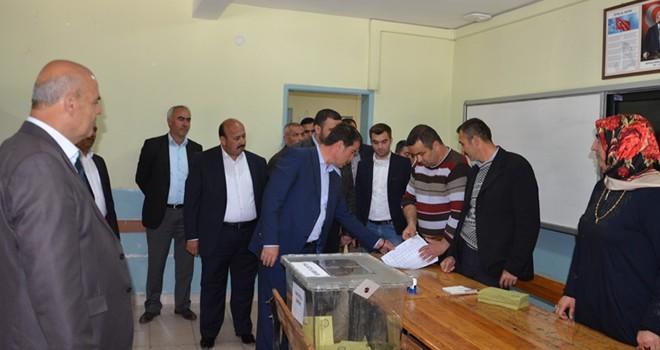 Milletvekili İmran Kılıç ve Başkan Okumuş oylarını kullandılar