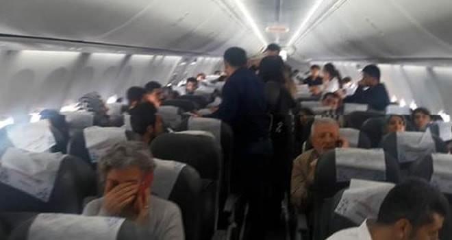 Kahramanmaraş'ta uçakta gergin anlar!