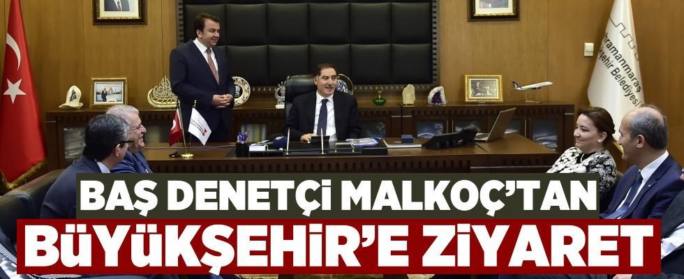 Kamu Baş Denetçisi Malkoç'tan Büyükşehir'e ziyaret