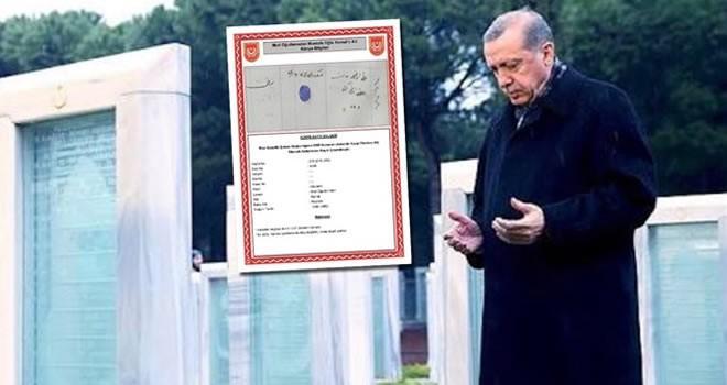 Cumhurbaşkanı Erdoğan'ın dedesi donarak şehit oldu