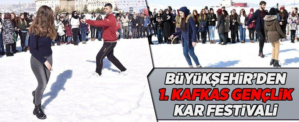 1. Kafkas Gençlik Kar Festivali Göksun'da gerçekleştirildi