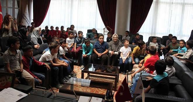 Bulutoğlu İlkokulu öğrencileri, Belediye Başkanlığını ziyaret ettiler